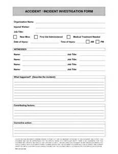 incident investigation report template incident investigation report template 28 images