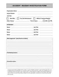 Near Miss Report Template   eBook Database