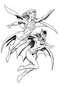 free coloring pages for kids batgirl coloring pages