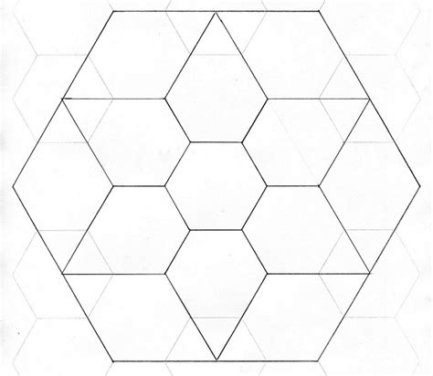 paper hexagon templates for patchwork paper piecing template template