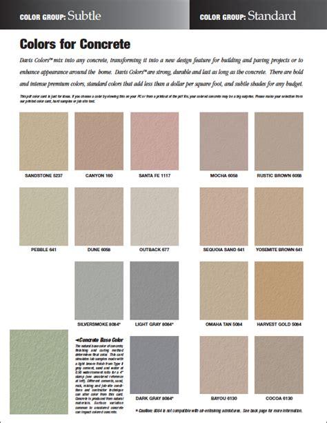 davis color pin davis concrete color selector page 1jpg on