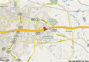 montgomery alabama us map map of staybridge suites montgomery eastchase montgomery