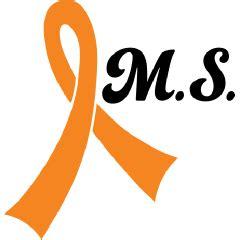 ms ribbon color sclerosis orange ribbon