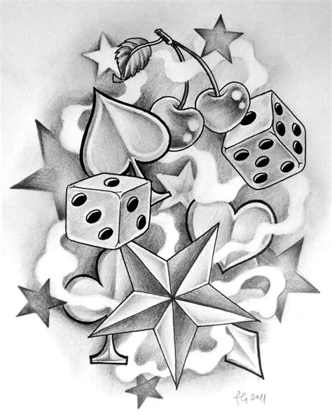 dice tattoo designs dice art school by themangaline diamonds hearts spades clover