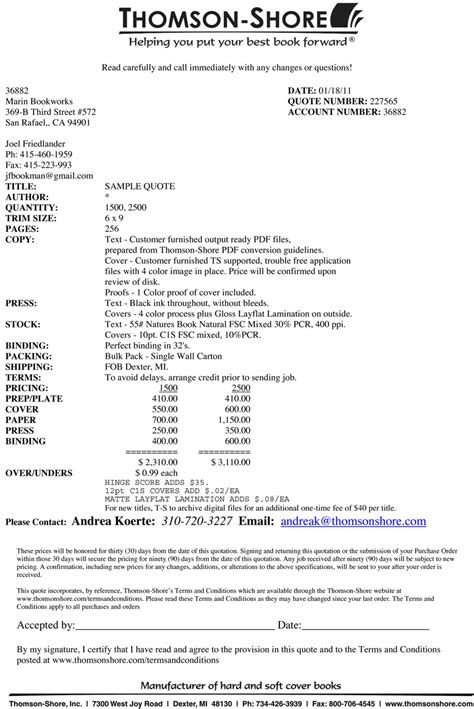 computer repair invoice template quote template