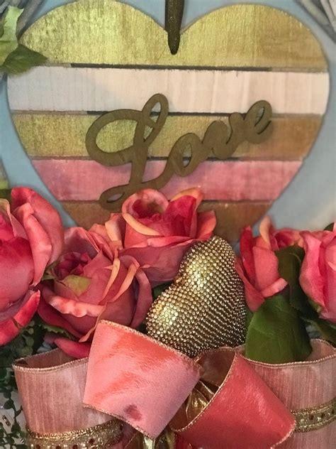 valentine wreath heart wreath front door valentine