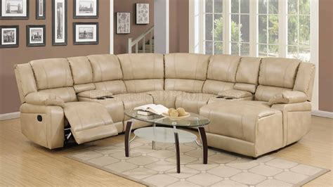 cream sectional sofa 8303 reclining sectional sofa in cream bonded leather w