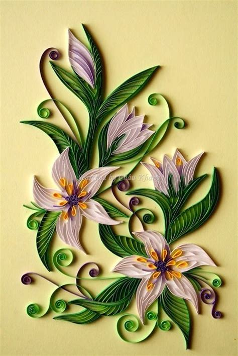 tutorial bunga quilling quilled lilies quilling pinterest lilies