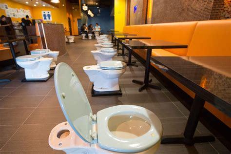 toilet restaurant behold la s toilet themed magic restroom cafe eater