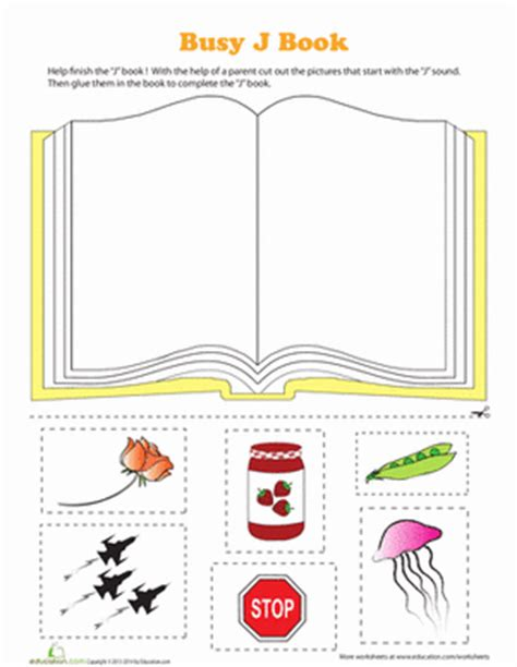 Letter J Phonics Worksheets by Printable Busy Books For Pre Reading Practice Education