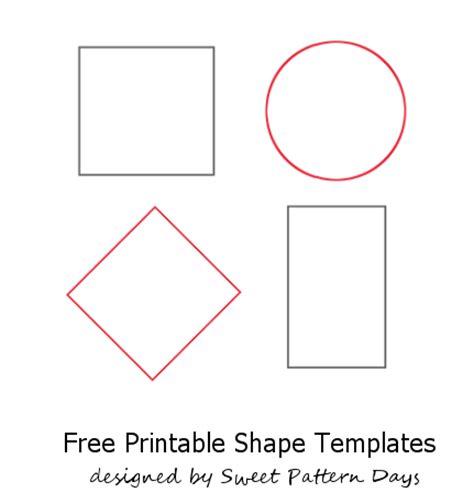 felt shape templates shapes template to print activity printables