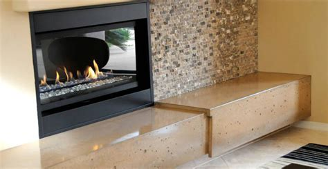 Concrete Fireplace Hearth   CHENG Concrete Exchange