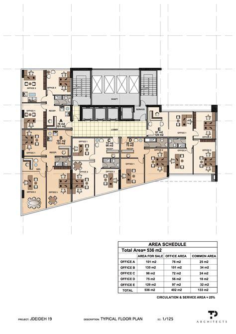executive tower b floor plan sle office floor plans joseph chalhoub real estate development