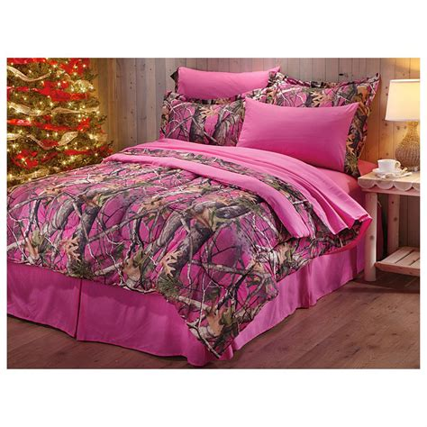 king size pink camo comforter set castlecreek next vista pink camo 8 piece bed set 609062