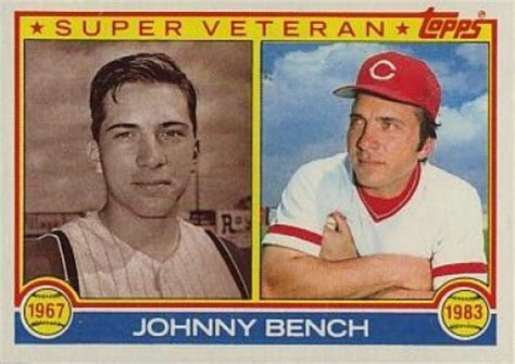 johnny bench card 1983 topps johnny bench 61 baseball card value price guide