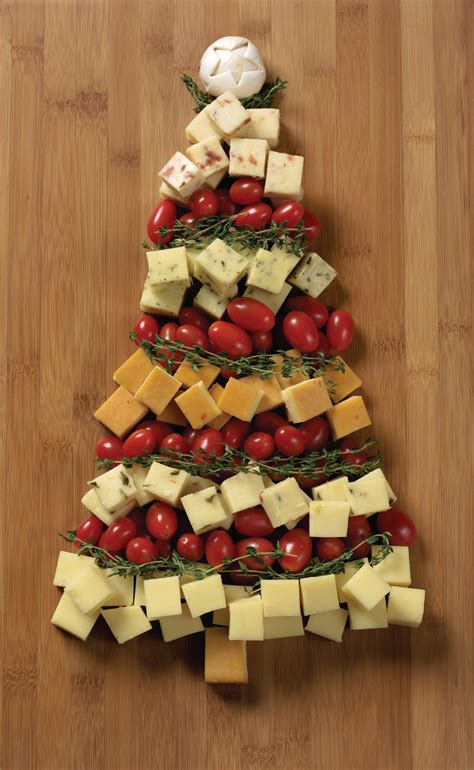christmas appetizer recipes tree cheese board idea