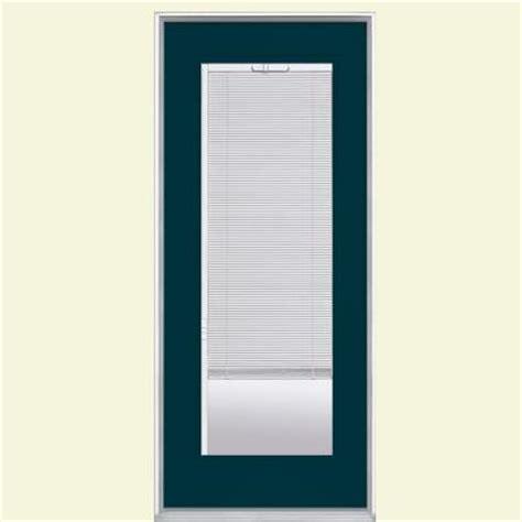 24 Inch Exterior Door Home Depot Masonite 32 In X 80 In Mini Blind Painted Steel Prehung Front Door With No Brickmold 39165