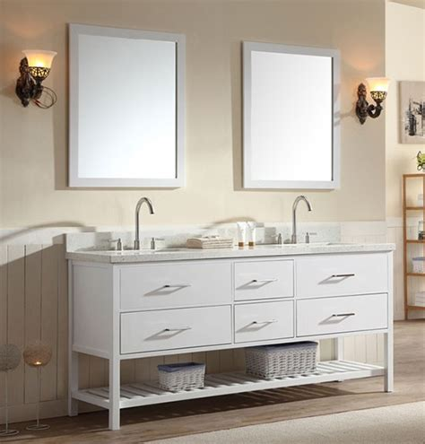 Vanity Shakespeare by Ariel Shakespeare 73 Inch Transitional Bathroom