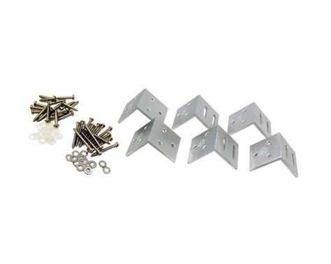 hoekijzer praxis tuinscherm hoekbeslag aluminium elephant 6 stuks hoekjes 40x40