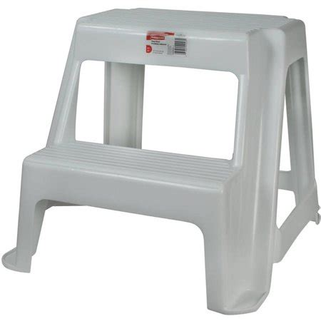 Rubbermaid Two Step Step Stool rubbermaid fg420200wht roughneck two step step stool