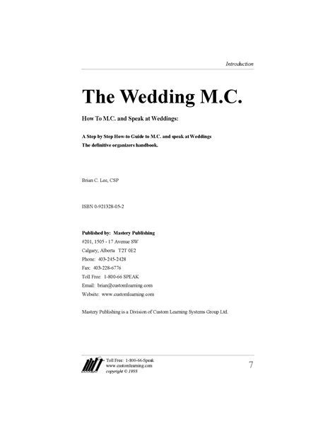 The Wedding Emcee, Guide to the Perfect Wedding Reception