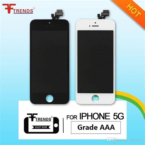 Lcd Cina C5 Tft022h011 for iphone 5 lcd display touch screen digitizer assembly with earpiece anti dust mesh