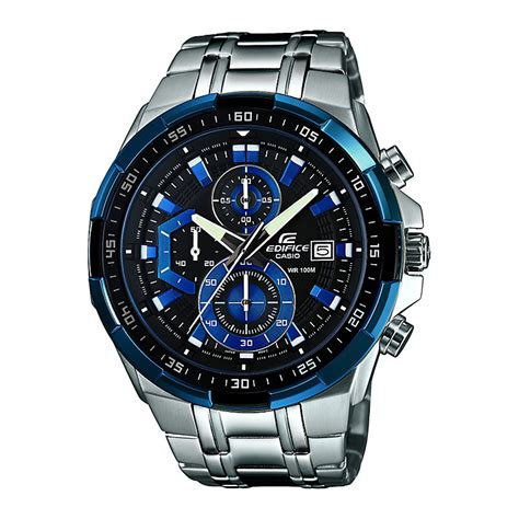 casio edifice s stainless steel blue h
