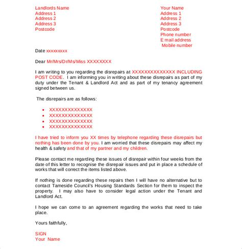 Lease Complaint Letter sle welcome letter to tenant from landlord eviction