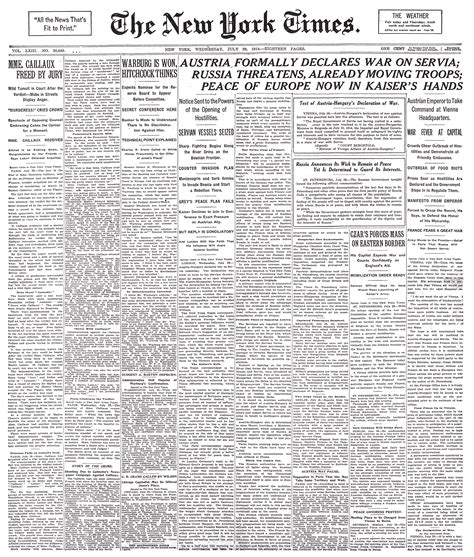 Sports News Archives Page 5 Of 7 Official S188 Blog | file new york times frontpage 1914 07 29 png wikimedia