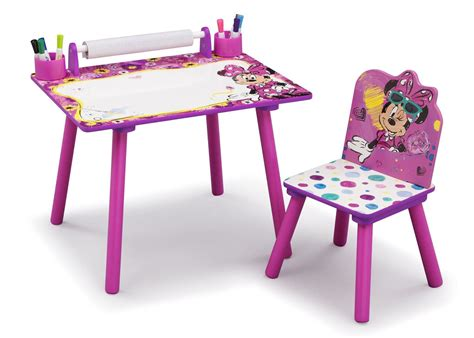 Minnie Mouse Art Desk With Paper Roll Delta Children S Desk With Paper Roll