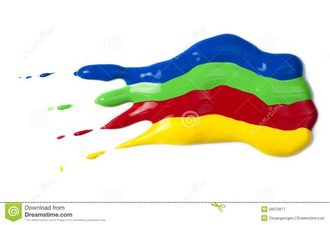 paint coated on paper green blue and yellow colors royalty free stock photography