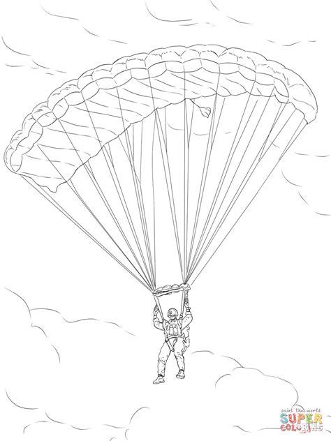 parachute coloring pages