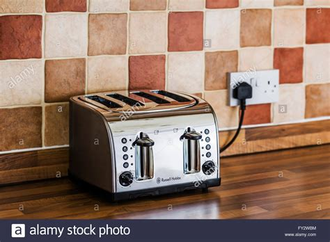 kitchens toaster on counter four slice toaster on a kitchen counter stock photo royalty free image 102711384 alamy