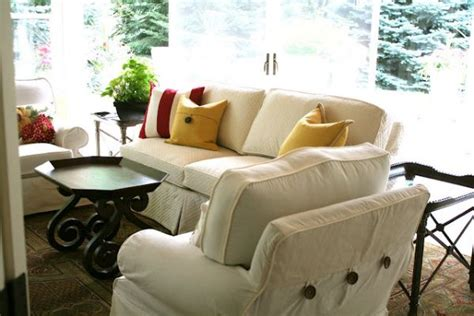 bright couch covers gorgeous light bright slipcovers for a sunroom