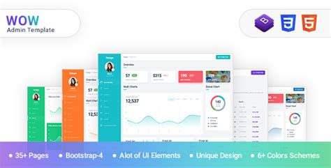 Wow Admin Template Bootstrap 4 With Material Design Nulled Download Bootstrap Material Design Admin Template