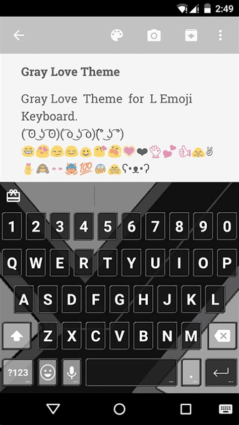 themes emoji keyboard gray love emoji keyboard theme android apps on google play