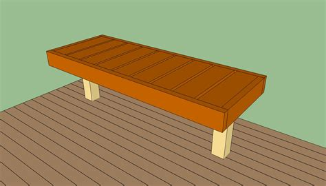 building deck benches deck bench plans free howtospecialist how to build