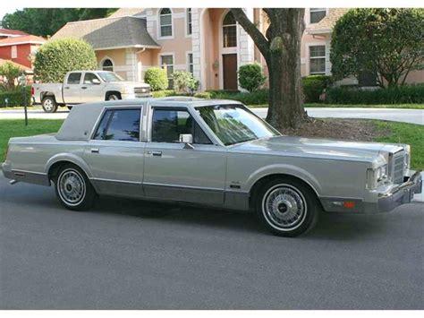 87 lincoln town car for sale 1987 lincoln town car for sale classiccars cc 658180
