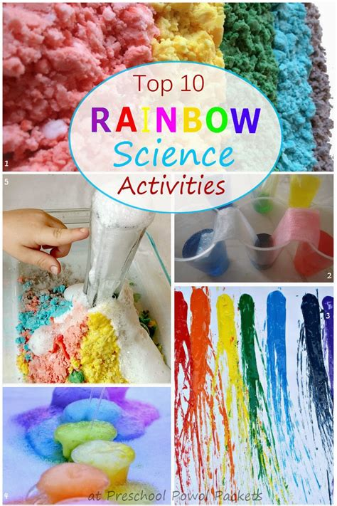 science activities for kindergarten top 10 rainbow science activities preschool powol packets