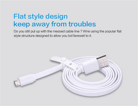 Nillkin Charger Cable Micro Usb For Smartphone Blue Diskon nillkin charger cable micro usb for smartphone gray