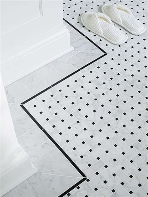 black and white border tiles for bathroom 29 ideas to use all 4 bahtroom border tile types digsdigs