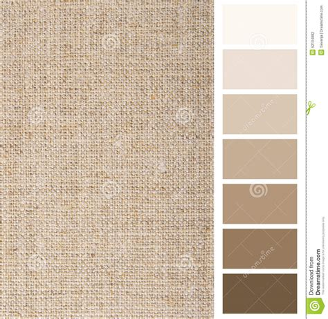 color linen linen hessian fabric color chart stock photo image 52104882