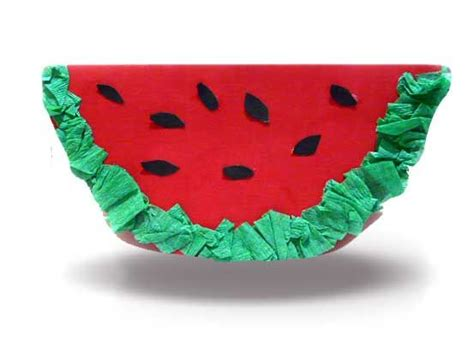 Watermelon Paper Craft - watermelon crafts motor and picnics on