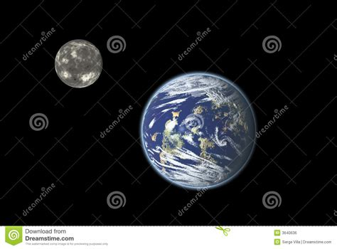earth and moon royalty free stock image image 3640636