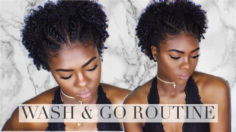 wash and go black hair natural hair defined wash and go short tapered type 4