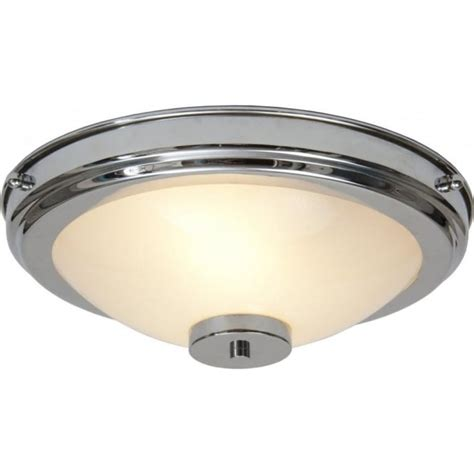 Flush Fitting Circular Chrome And Glass Art Deco Light For Light Fittings For Low Ceilings