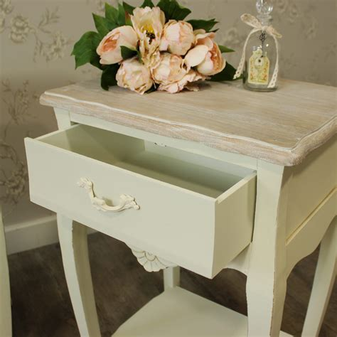 antique white 1 drawer bedside l table shabby french furniture bundle pair cream 2 drawer bedside ls tables
