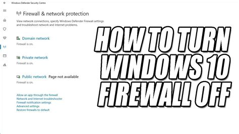 windows 10 firewall tutorial how to disable windows 10 firewall tutorial turn