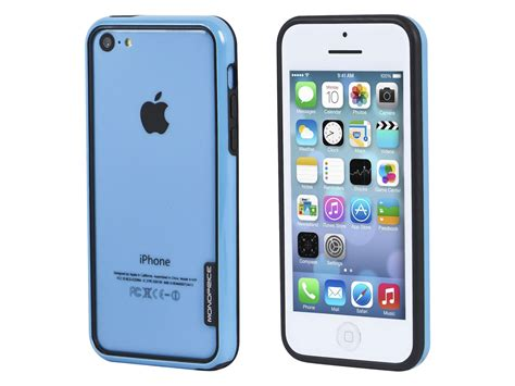 monoprice pc tpu edge bumper for iphone 5c blue monoprice