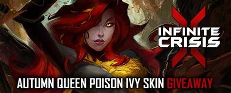 Infinite Crisis Giveaway - infinite crisis queen poison ivy rare skin giveaway mmobomb com
